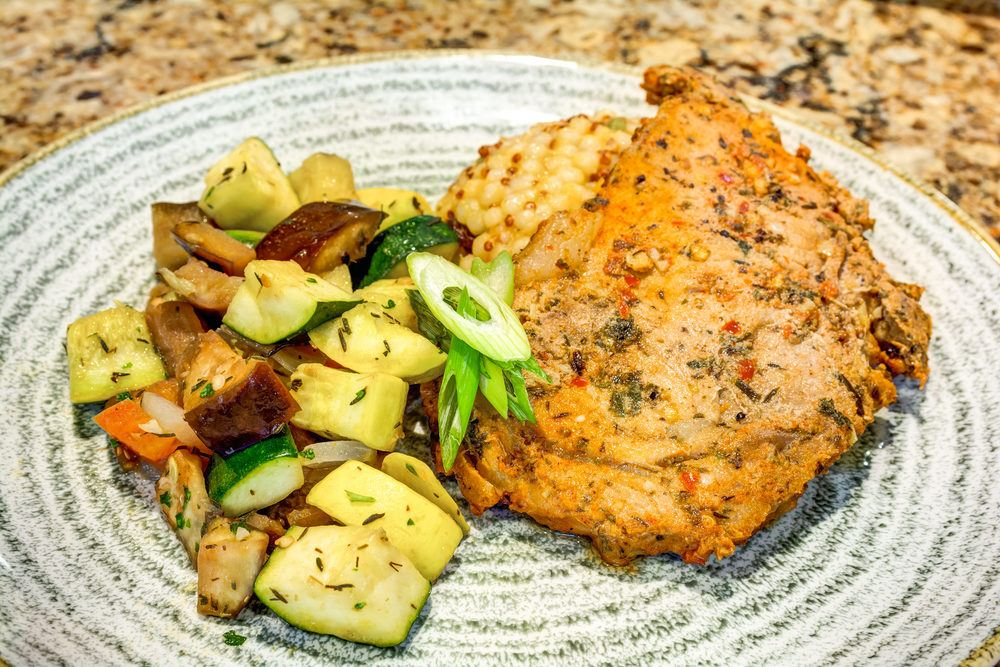 Belleview Suites at DTC | Chicken with roasted vegetables