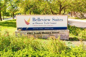 Belleview Suites at DTC entrance sign, Denver, CO