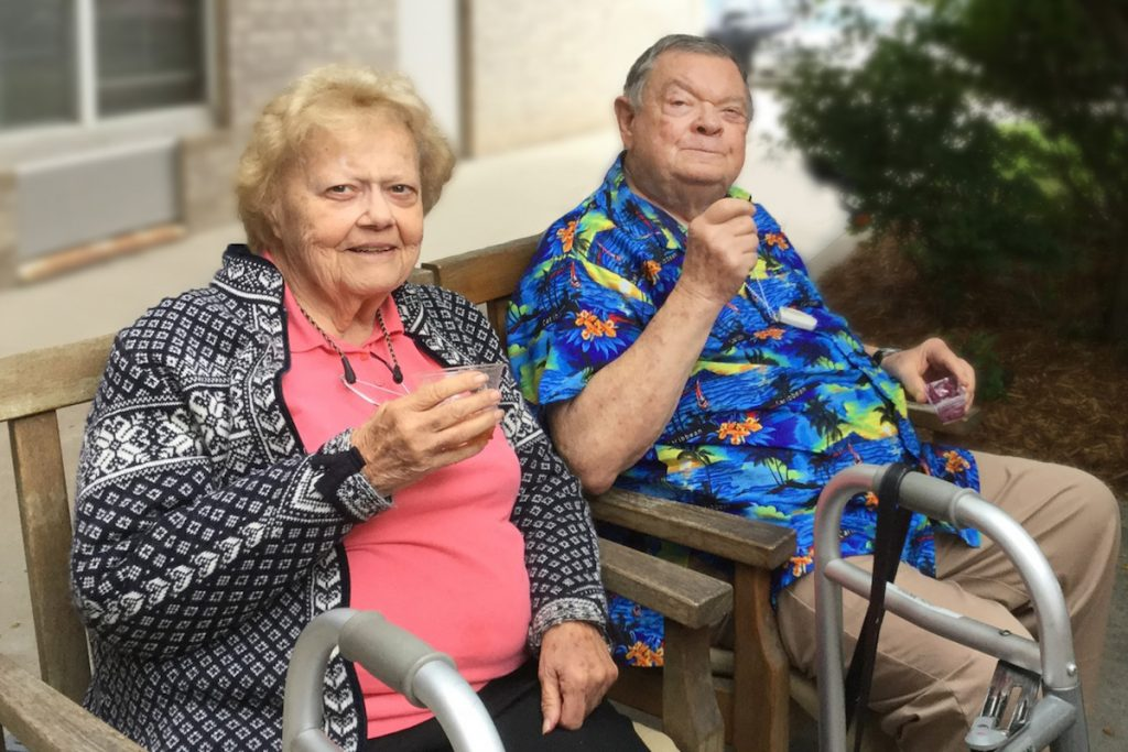 Belleview Suites at DTC | Seniors relaxing outdoors