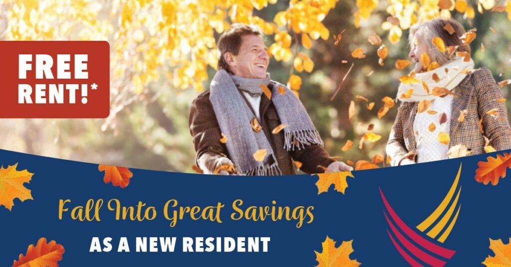 Pegasus Senior Living   Fall Into Great Savings as a New Resident