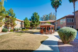 Broadway Mesa Village | Outdoor Pathway with Gazebo
