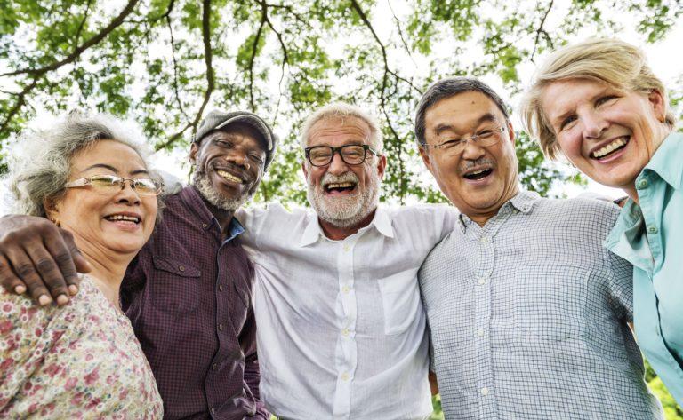 Broadway Mesa Village   Group of happy seniors