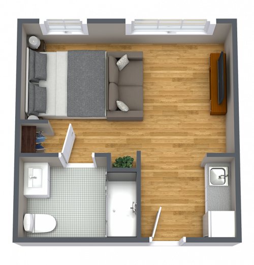 Broadway Mesa Village | Apartment Floorplan