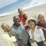Broadway Mesa Village   Seniors at the beach