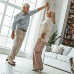 Broadway Mesa Village   Senior couple dancing