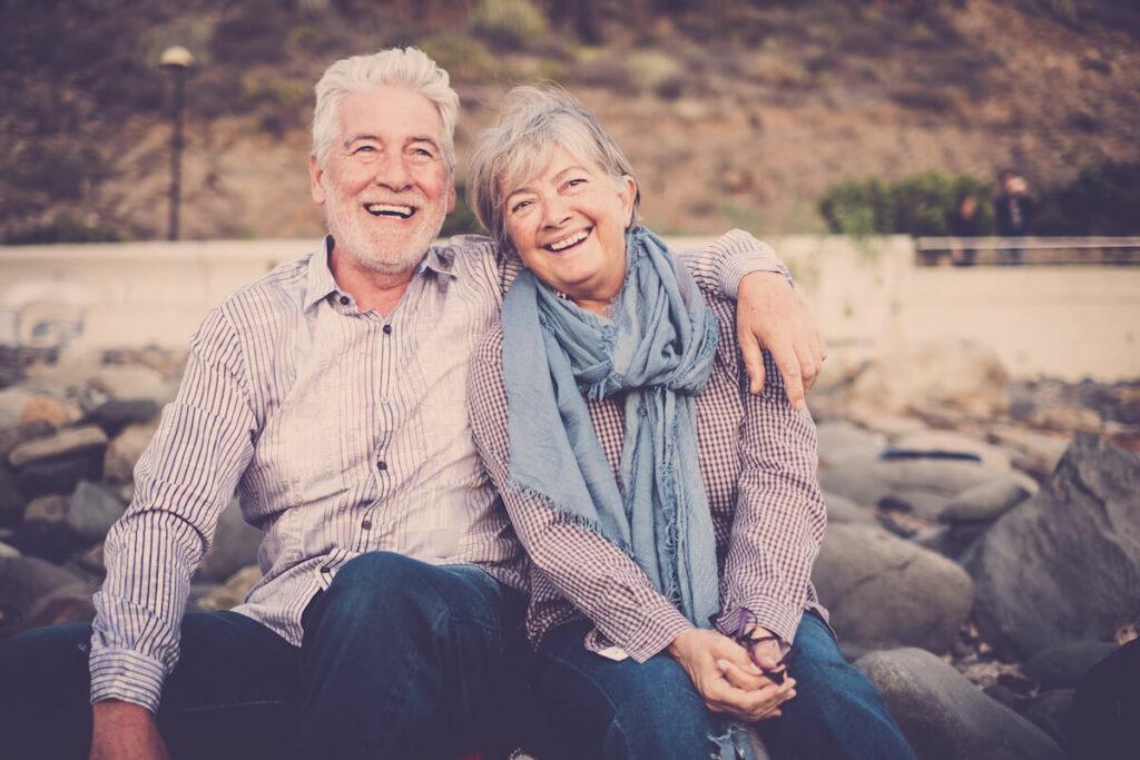Broadway Mesa Village   Senior couple enjoying the outdoors