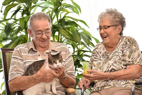 Pegasus Senior Living | Seniors with cat