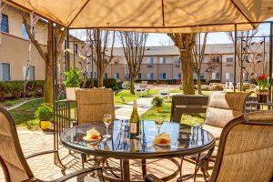 Creston Village | Outdoor Patio with Table