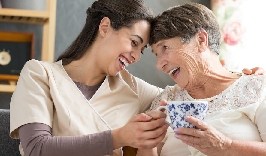 Creston Village   Senior and caregiver bonding