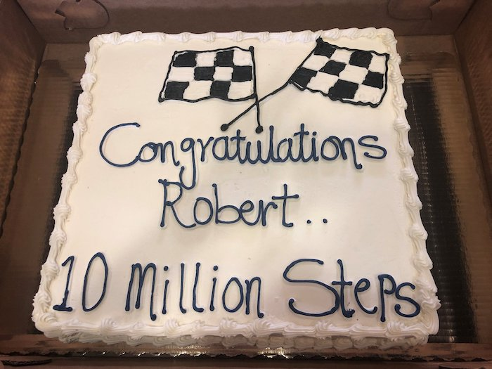 Dunwoody Place | Robert White's cake celebrating his 10 millionth step