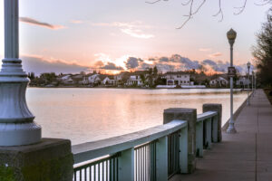Elk Grove Park | Local Photo of Houses on Lake