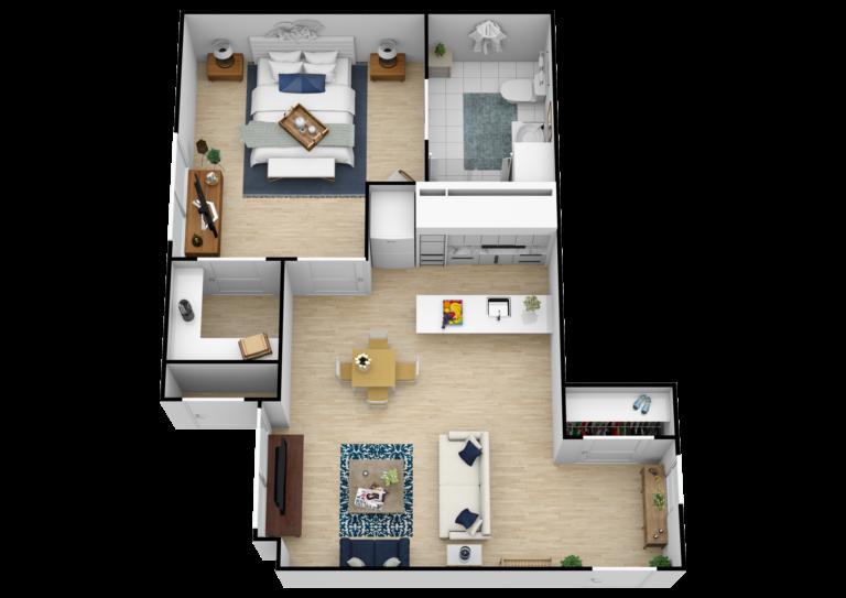 Elk Grove Park   One Bedroom with Kitchen