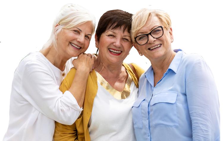 Elk Grove Park | Group of senior women smiling