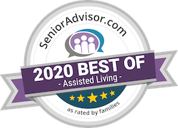 Pegasus Senior Living | SeniorAdvisor.com 2020 Best of Assisted Living award
