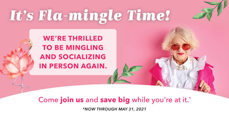 Pegasus Senior Living | It's Fla-Mingle Time
