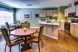 Glenwood Village of Overland Park   Living Area with Kitchen