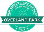 MemoryCare.com award for Best Memory Care Community in Overland Park, KS 2019