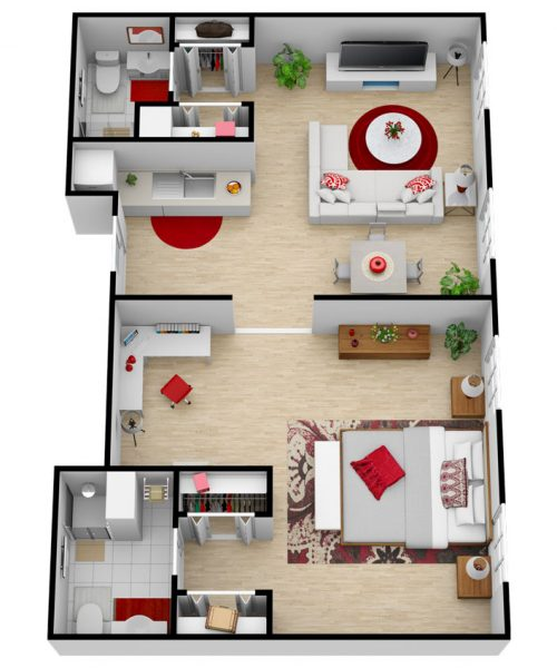 Glenwood Village of Overland Park   One Bedroom Deluxe