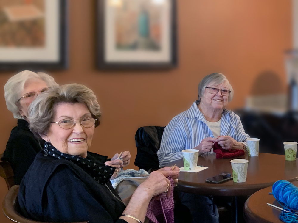 Greenhaven Place   Residents at table