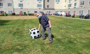 North Point Village in Spokane, WA residents on Kentucky Derby day