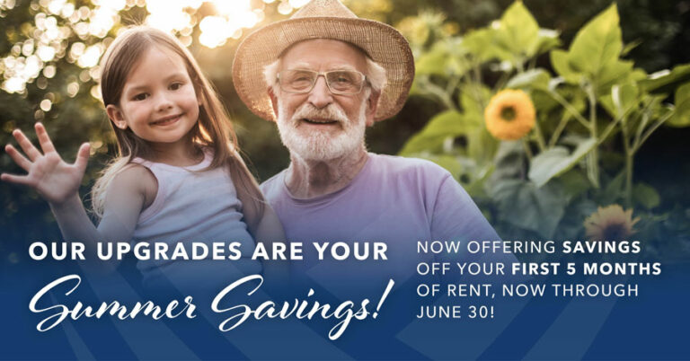 Our Upgrades Are Your Summer Savings! Now Offering Savings Off Your First 5 Months of Rent, Now Through June 30!