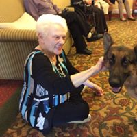 Historic Roswell Place | Resident ambassador Lucille with dog