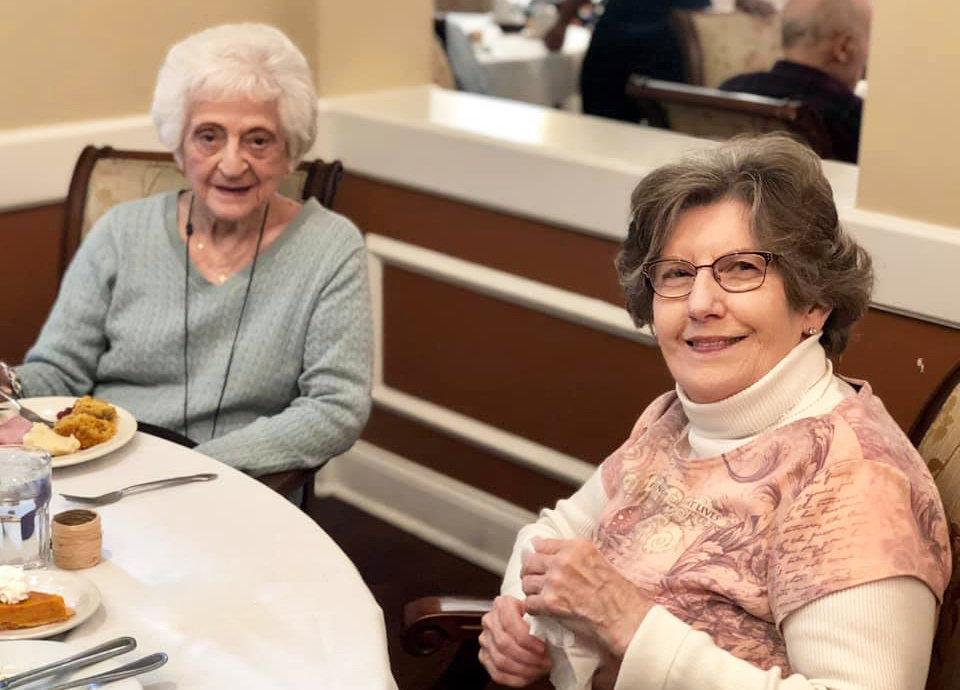 Two senior ladies at Dunwoody Place in Atlanta, GA