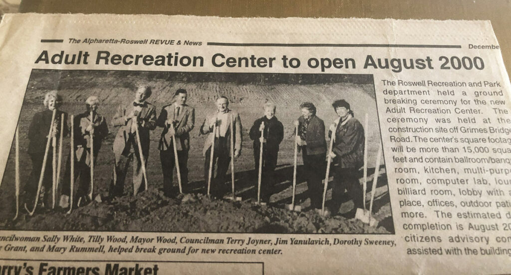 Historic Roswell Place | Alice at our recreation center's founding