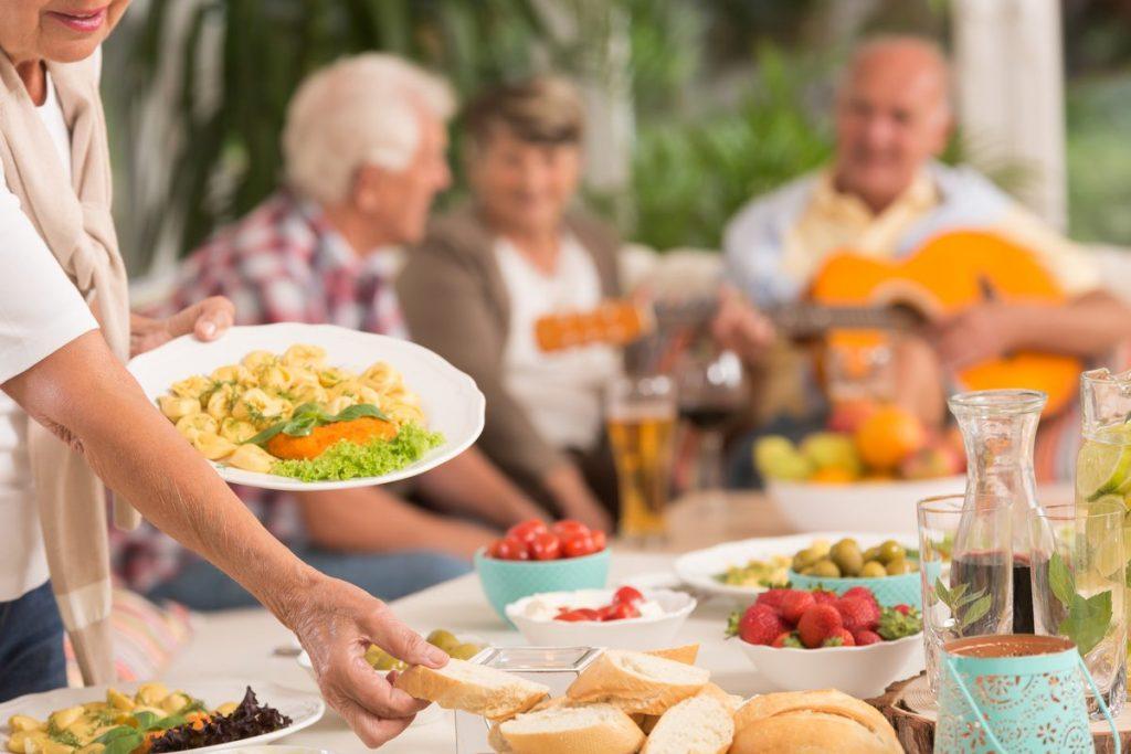Laketown Village | Seniors at cookout