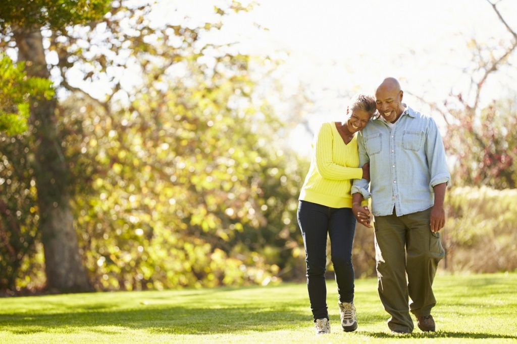 Laketown Village | Senior couple walking outdoors