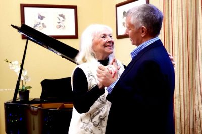 Lakeview of Kirkland | Senior couple near piano