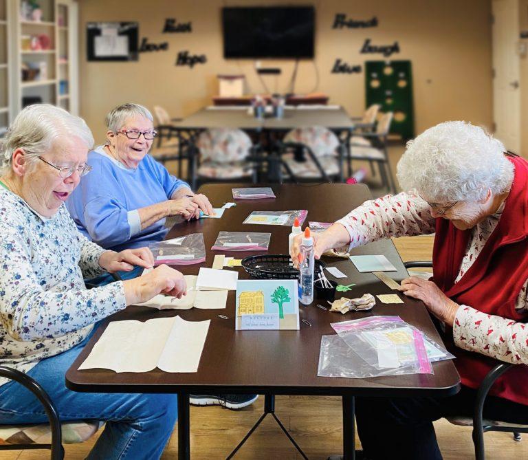 North Point Village | Senior women making crafts