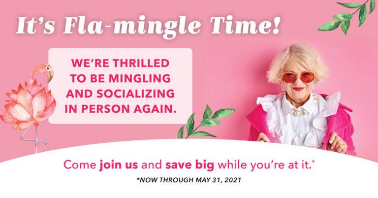 Pegasus Senior Living | It's Fla-Mingle Time