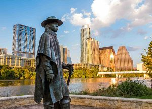 Parmer Woods at North Austin | Local Stevie Ray Vaughan statue