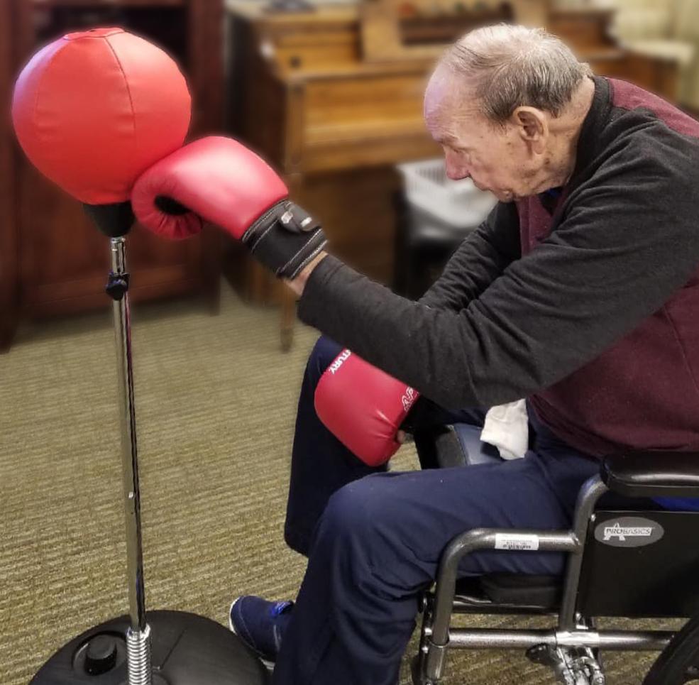 Parmer Woods at North Austin | Elder man boxing