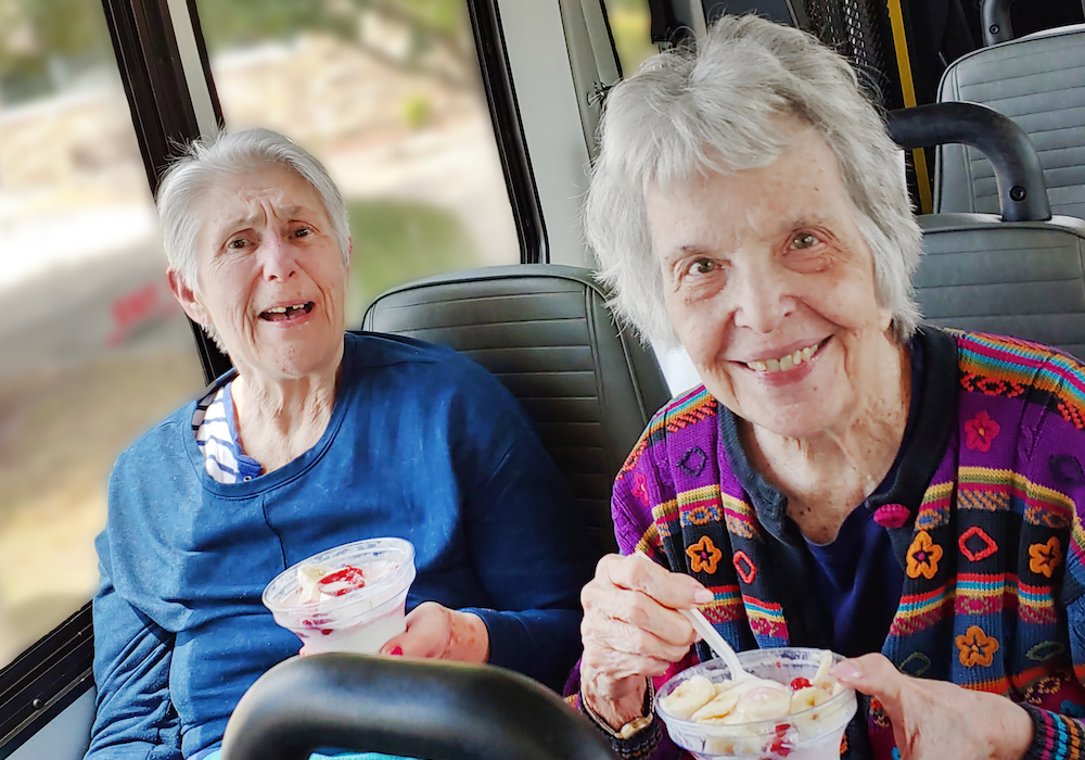 Senior Ladies Smiling Parmer Woods at North Austin, Austin Texas