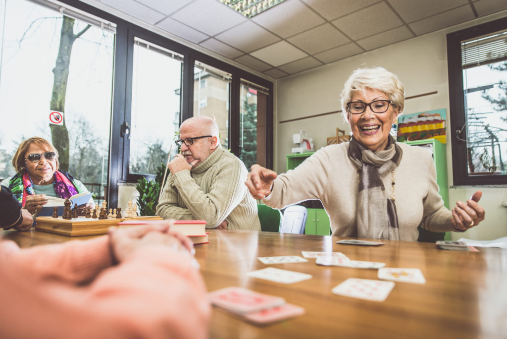 Parmer Woods North Austin | Seniors playing cards