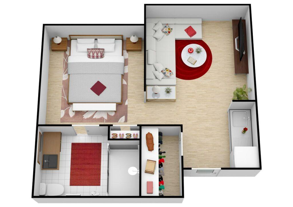 Parmer Woods at North Austin   Unit B AL One Bedroom