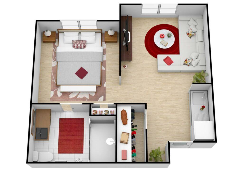 Parmer Woods at North Austin   Unit D AL One Bedroom