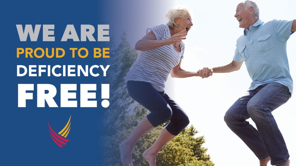 We are proud to be deficiency free at Ridgeland Place!