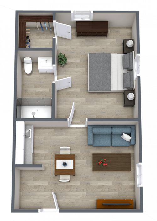 Ridgeland Place | One Bedroom
