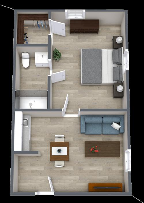 Ridgeland Place | One Bedroom
