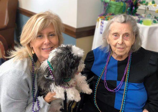 Ridgeland Place | Senior women with dog