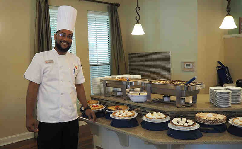 Ridgmar Place | Chef with pies