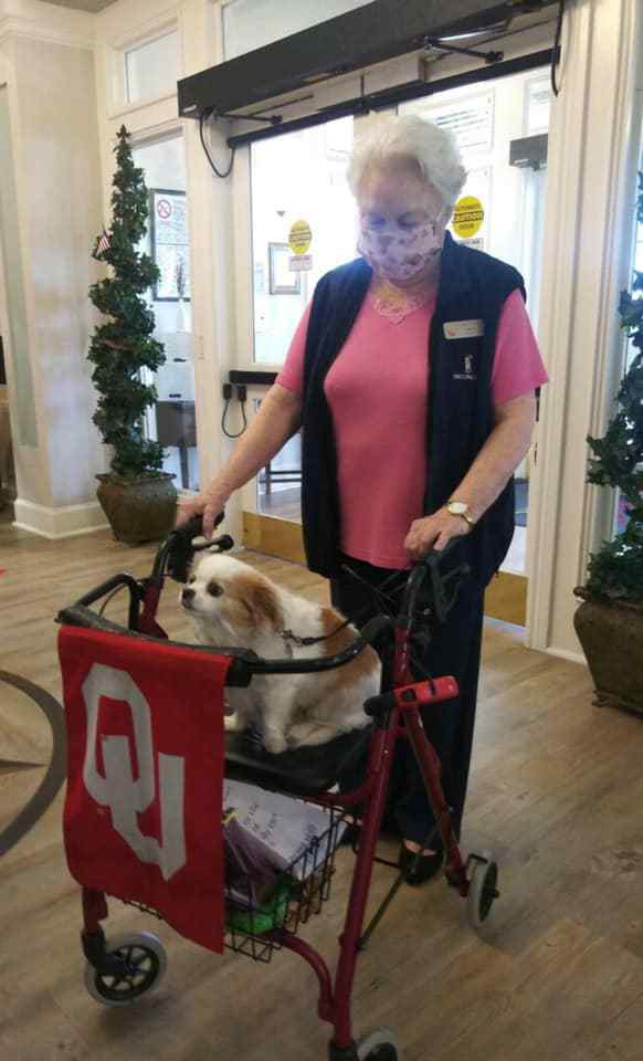 Ridgmar Place | Senior with dog
