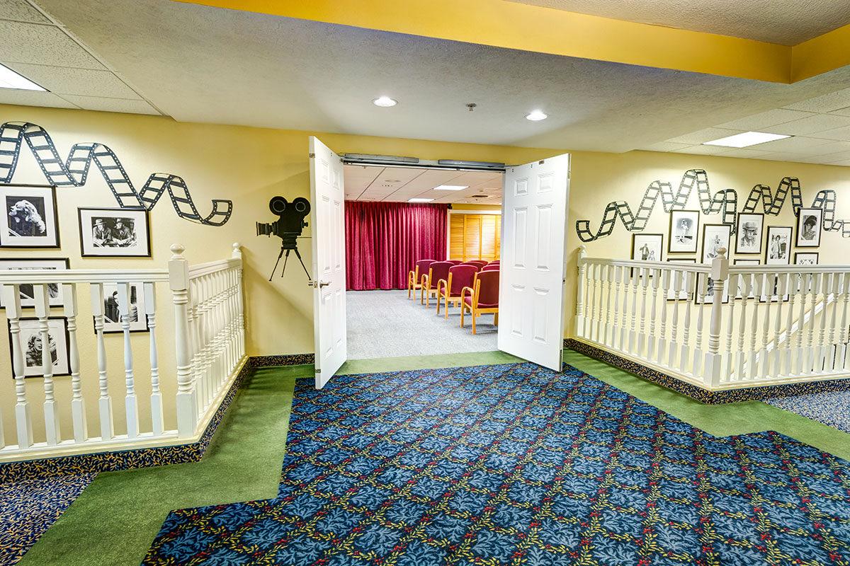 South Hill Village | Media Room Entrance