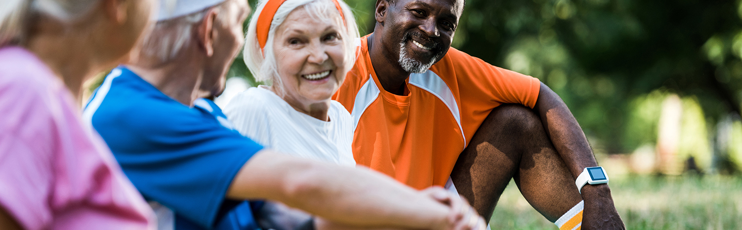 South Hill Village | Happy active seniors outdoors