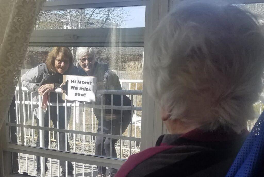 Pegasus Senior Living   Window Visit organized by Jasmina