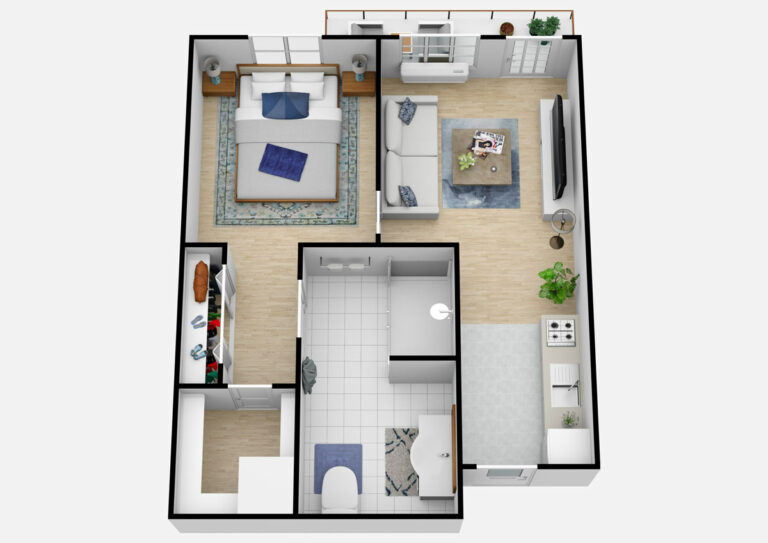 South Hill Village | One Bedroom B