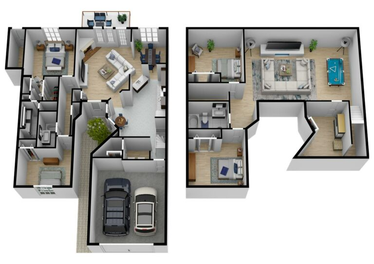 South Hill Village | One Level Two Bedroom with Basement